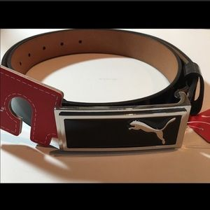 New patent leather Puma belt